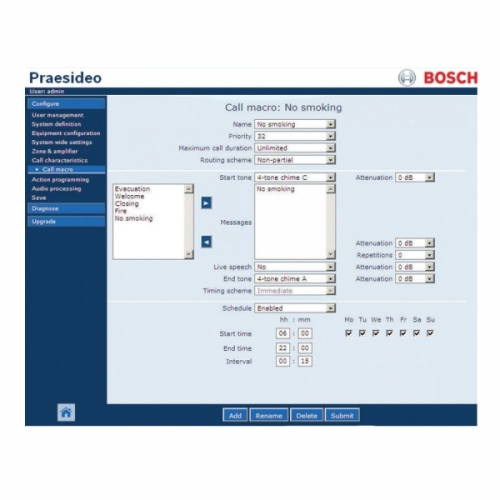 Bosch Praesideo Praesideo Software (for PRS-NCO3)